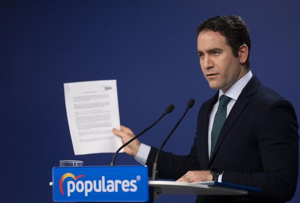 García Egea pide a Sánchez que utilice el plan B que le brinda Casado