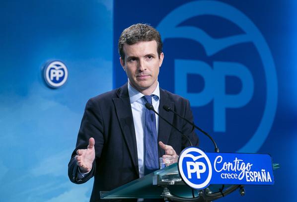 Casado denuncia la política de ibuprofeno que Sánchez aplica a toda su gestión