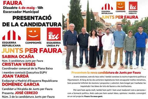 Compromís se alía con los independentistas de Esquerra para las elecciones municipales