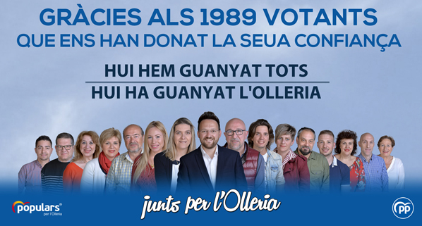 Gracias a los votantes por confiarnos su voto